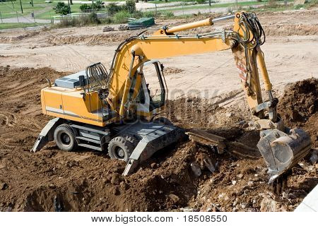 Tracker excavating