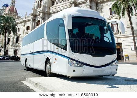 Tour Bus parked at Tourist Spot