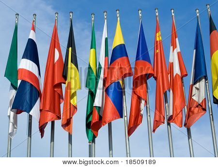 Euro Zone International Flags