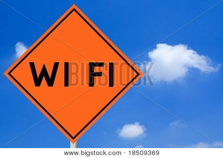 Wi Fi Road Sign