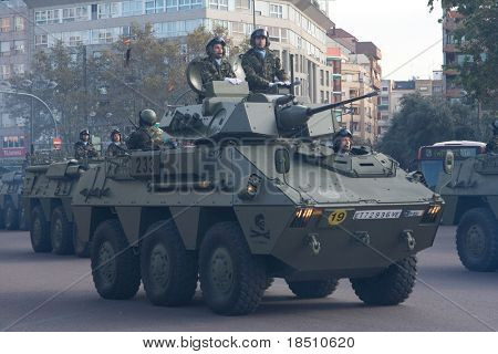 VALENCIA, SPAIN - DECEMBER 19: Spain's Military Regiment Lusitania 8 (Marines) celebrate their 300 year anniversary with a military parade on December 19, 2009 in Valencia, Spain.