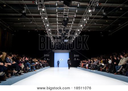 VALENCIA, SPAIN - FEBRUARY 3:  Models on the catwalk wear a Paco Roca design for the Valencia Fashion Week on February 3, 2010 in Valencia, Spain.