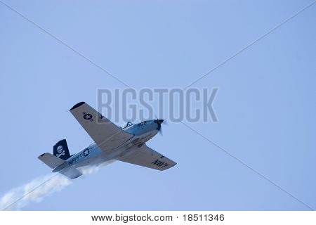 PALM COAST, FLORIDA - MARCH 27: Aircraft fly at the Wings Over Flagler Air Show at the Flagler County Airport on March 27, 2010 in Palm Coast, Florida.