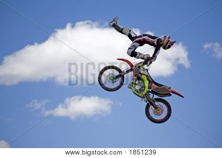 Acrobatic Moto Cross Rider_