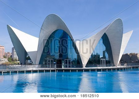 VALENCIA, SPAIN - OCT 24: The Oceanografic in Valencia is the largest aquarium in Europe and receives over 1 million vistors each year. The Oceanografic on October 24, 2010 in Valencia, Spain.