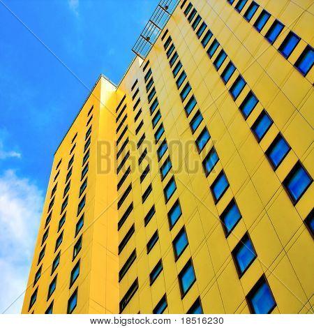 detalles con textura de rascacielos de oficinas modernos