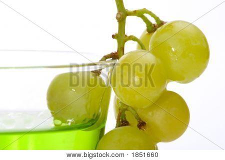 Grapes Dipped Into Liquor