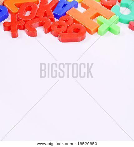 Magnetic Letter Background