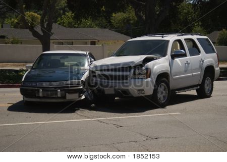 Car Accident Suv Smashed Into An Automobile