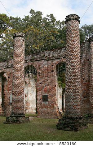 Ruins of an eighteenth century church