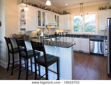 elegantly decorated kitchen