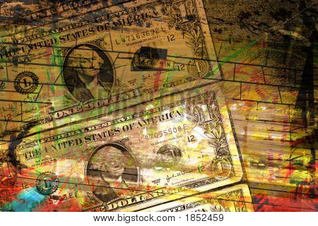 Money Grunge Background