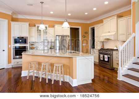 beautiful kitchen in warm tone colors etc etc