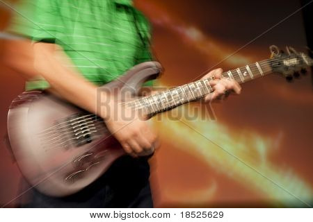 blur shot of guitar solo, in camera abstract
