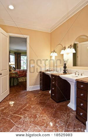 luxury bathroom with marble floors etc etc