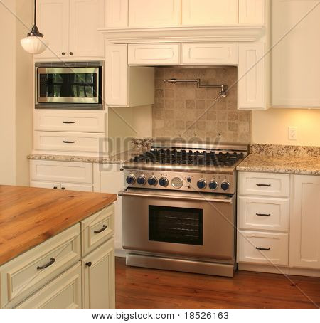 luxury kitchen detail on counter and stove