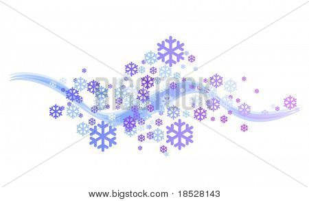 Abstract Snowflake Flying