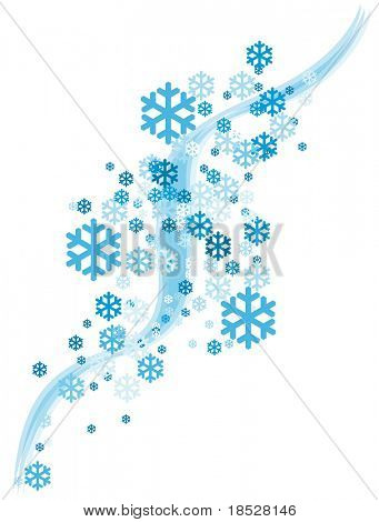 Abstract Snowflake Falling