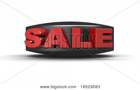 Sale promotion concept icon 3d illustration