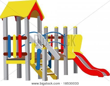 Children Playground (Colour Vector illustration)