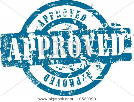 Grunge rubber stamp with word approved. See other rubber stamps in my portfolio.