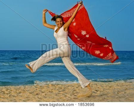 Sport On A Beach - Beautiful, Sexy Woman