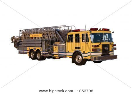 Ladder Truck Angle Isolated