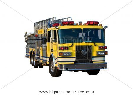 Ladder Truck Front Isolated