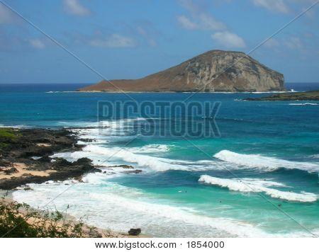 Beach And Island In Hawaii
