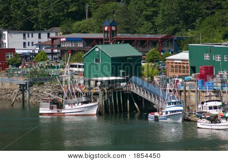 Fishing Boats In Juneau, Alaska