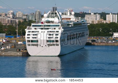 Cruise Ship In Victoria, British Columbia
