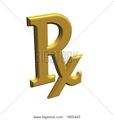 3D Rx Prescription Drug Symbol