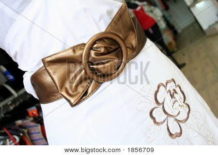 Belt And Golden Flower Design