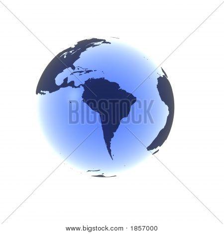 Soft Blue South America