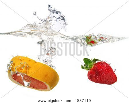 Grapefruit And Strawberry