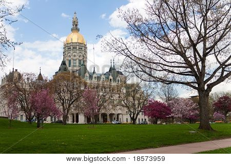 Hartford Capital Building During The Spring Time