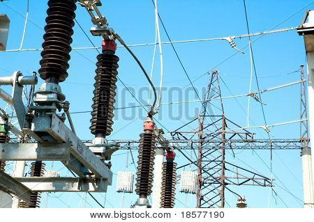 part of high voltage substation