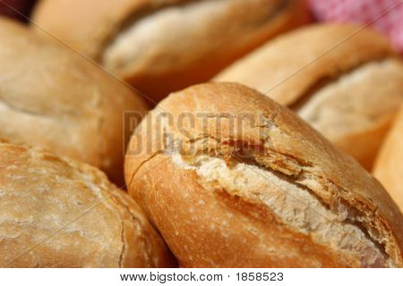 Close-Up Of Bread Rolls.