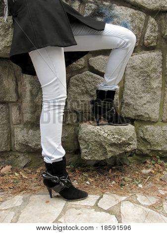 Short black boots
