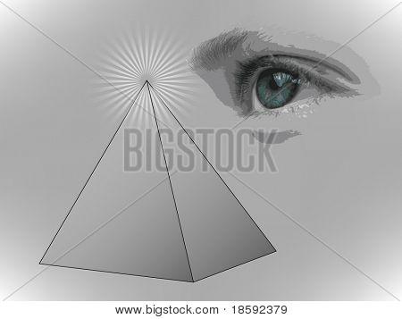 Pyramid and eye