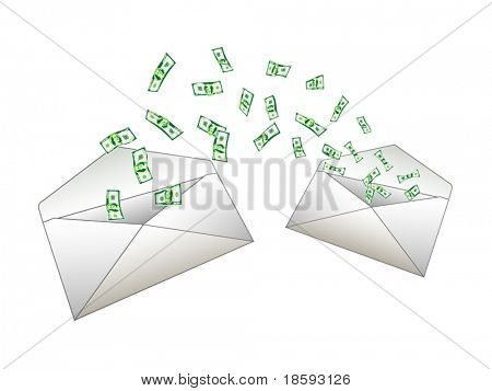 Money from envelope to envelope