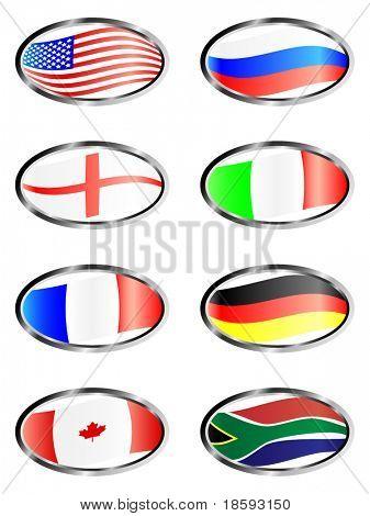 Elliptische Flagge Vektor-Schaltflächen