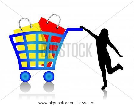 Full shopping basket