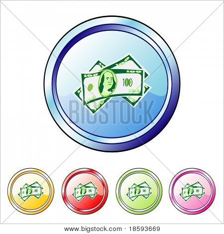 Money vector buttons