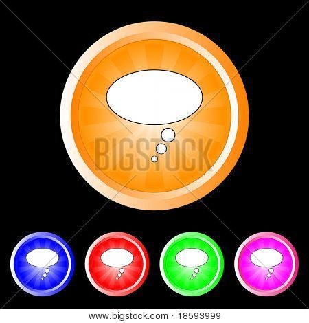 Bubble burst vector buttons