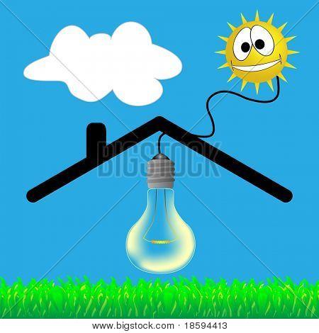 Solar energy - vector