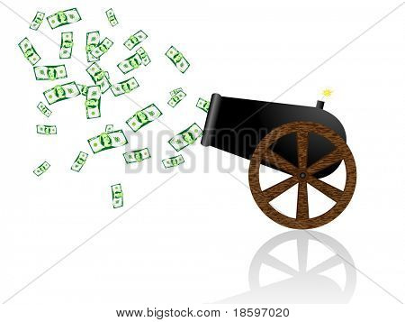 Money from old cannon