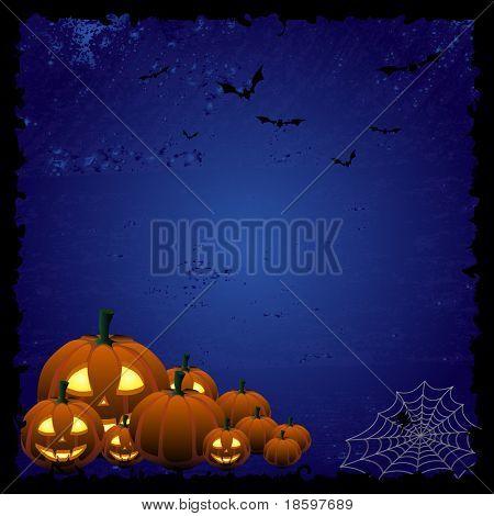 Blue Halloween background