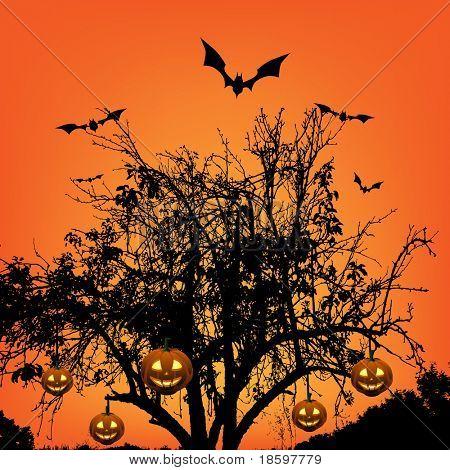 Halloween at sunset
