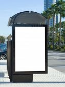 foto of bus-shelter  - Blank Bus Stop Billboard - JPG